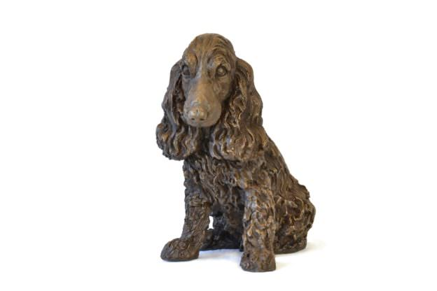 Front right view of Cocker Spaniel sculpture by Tanya Russell