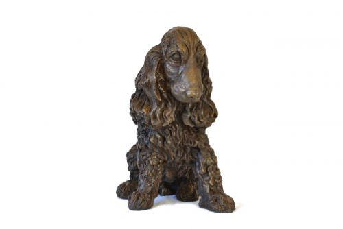 Front view of Cocker Spaniel sculpture by Tanya Russell