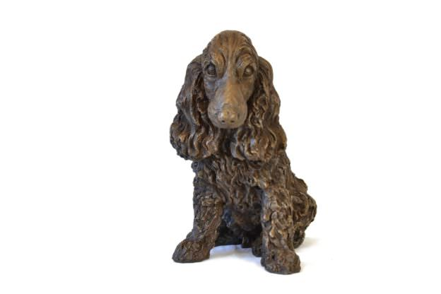 SITTING COCKER SPANIEL SCULPTURE