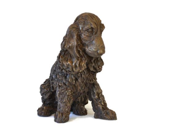 Quarter right view of Cocker Spaniel sculpture by Tanya Russellby Tanya Russell