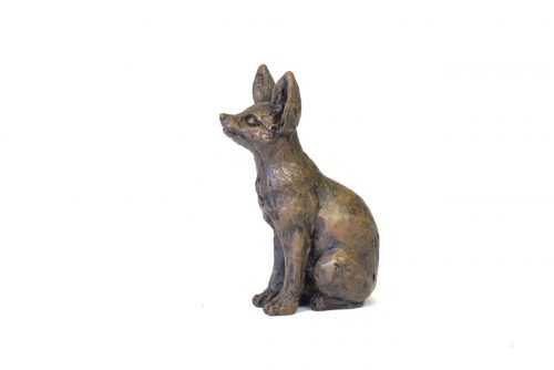 Fennec Fox sculpture - right side view