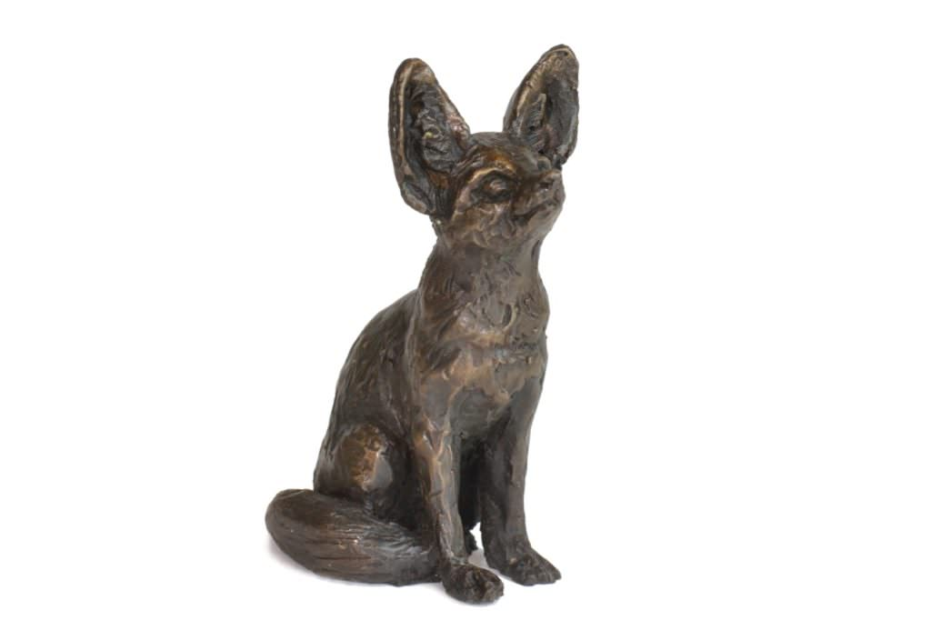 Fennec Fox sculpture - Front quarter right view