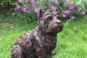 Sitting West Highland Terrier Outdoor Statue