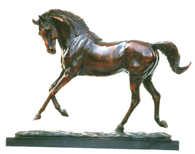 Playing Horse sculpture - Tanya Russell Sculpture
