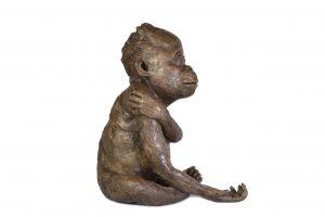 'Please' Baby Orangutan sculpture - right