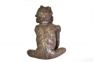 'Please' Baby Orangutan sculpture - back