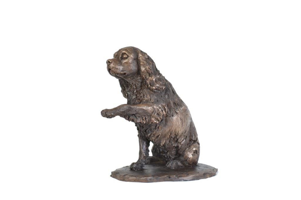 Cavalier King Charles Spaniel, Waving Paw sculpture