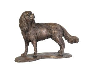 Standing Cavalier Spaniel sculpture right side view