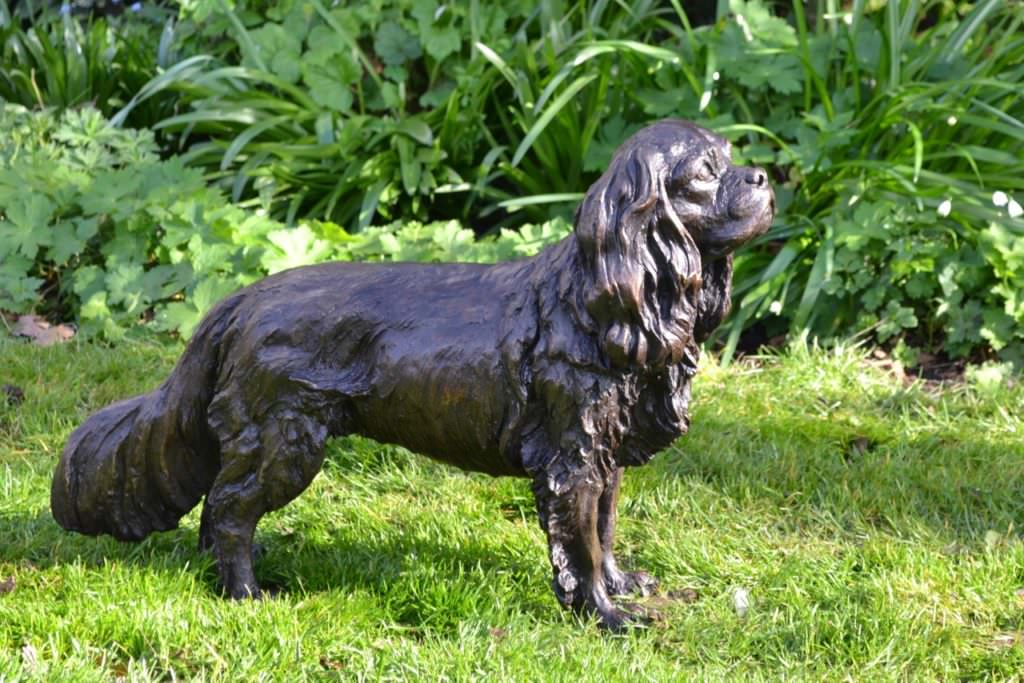 Standing Cavalier King Charles Spaniel sculpture right view