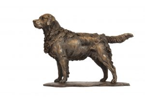 Standing Retriever sculpture right side view