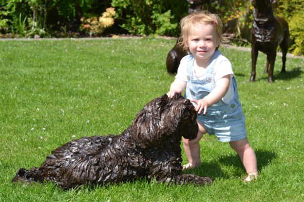 Tibetan Terrier and child