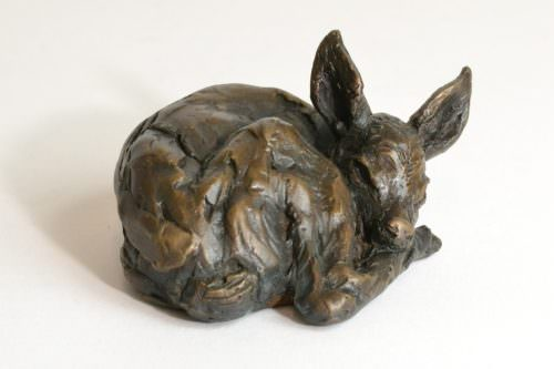 Fawn sculpture, front quarter right view