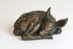 Fawn sculpture