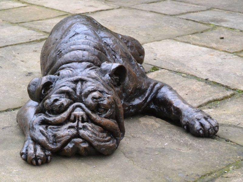 Bronze English Bulldog Sculpture