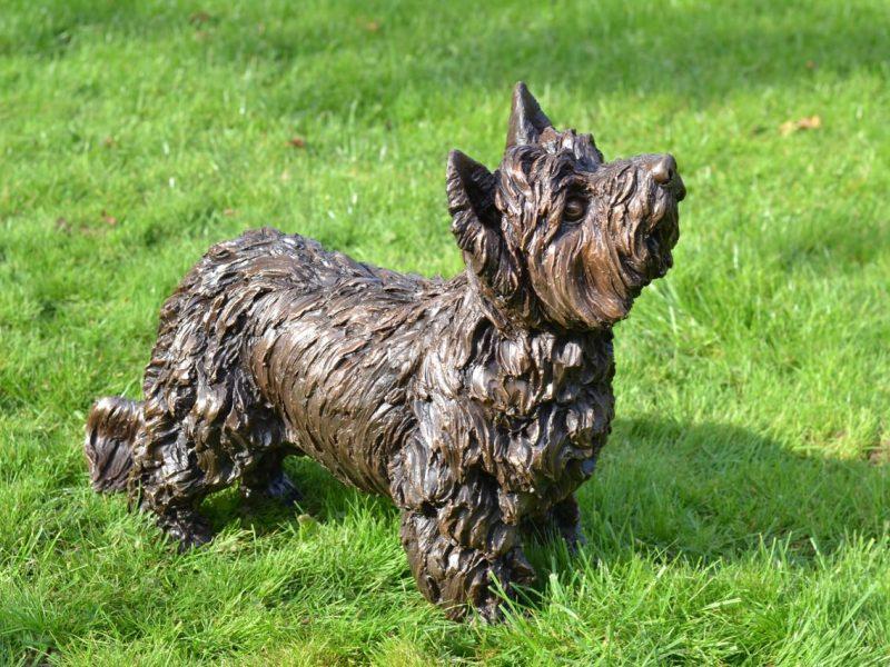 Outdoor Yorkshire Terrier Statue