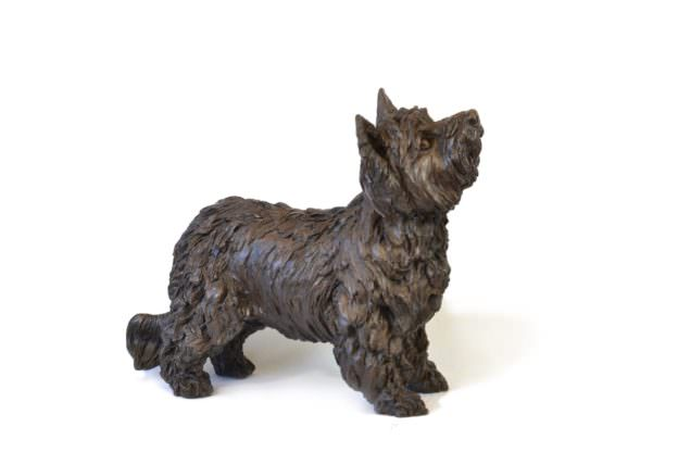 STANDING YORKSHIRE TERRIER SCULPTURE