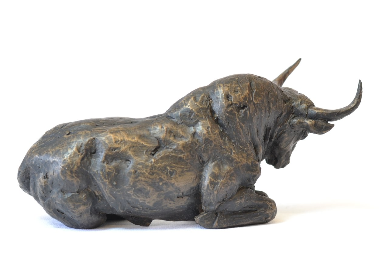 Bull Sculpture - right side view