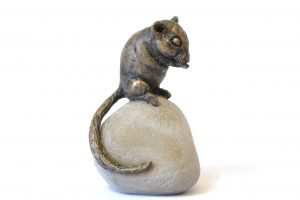 Dormouse sculpture - right side view