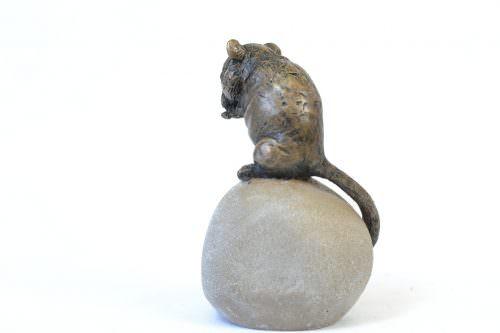 Dormouse sculpture - rear quarter right view