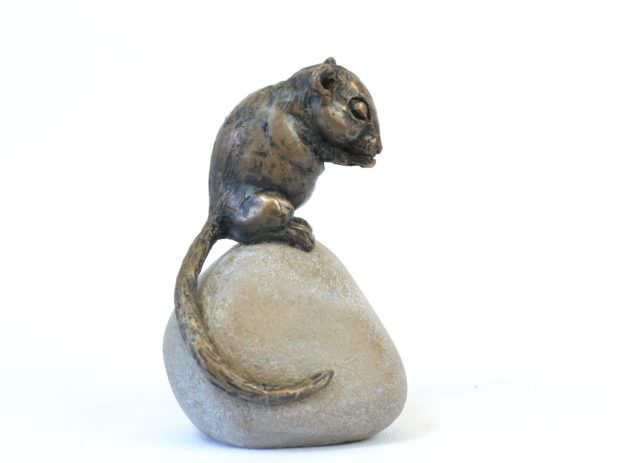 Dormouse Sculpture - Tanya Russell Animal Sculpture