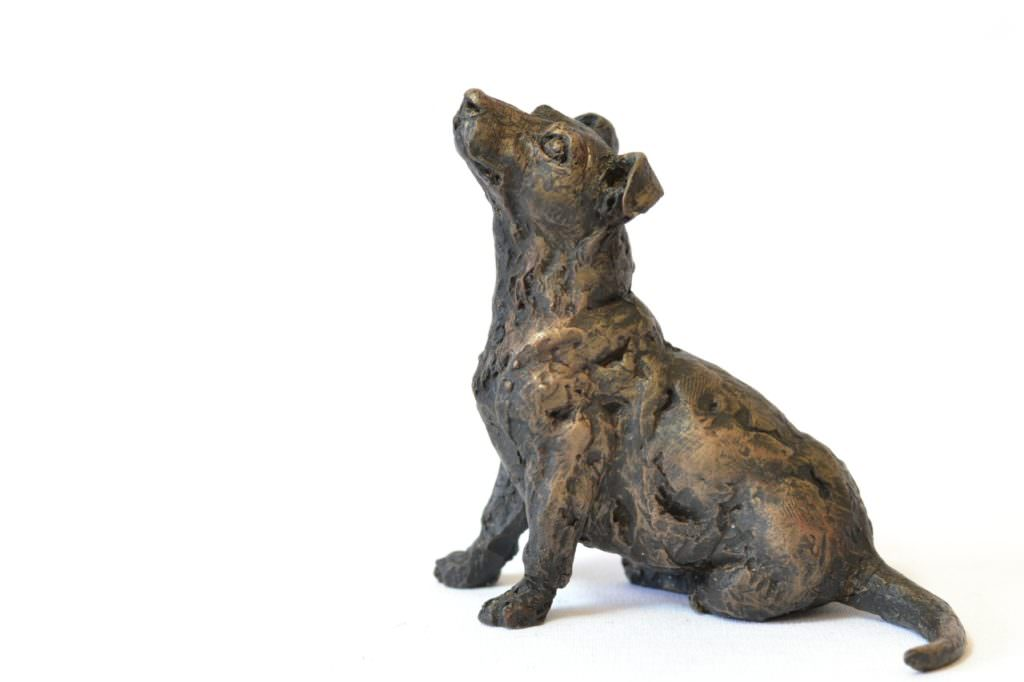 Jack Russell Terrier sculpture - left side view