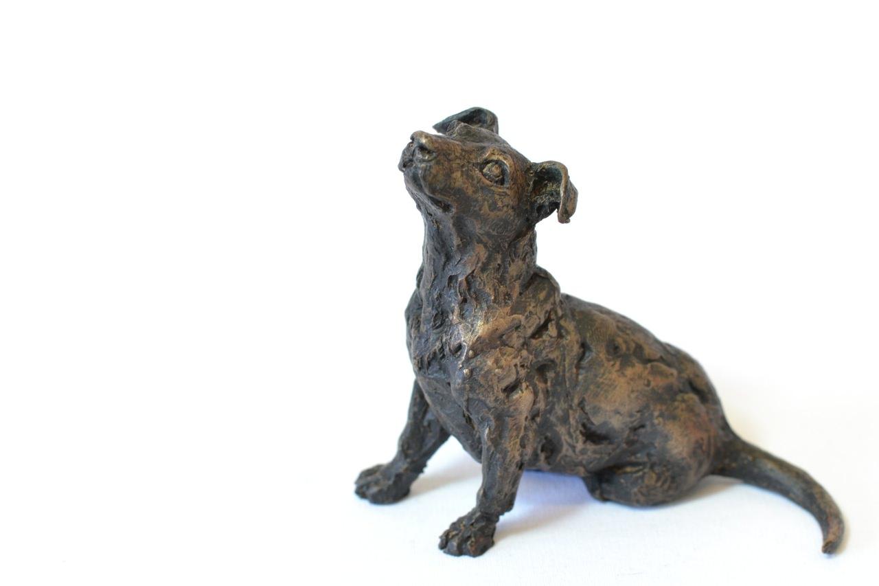 Jack Russell Terrier sculpture - front quarter left side view