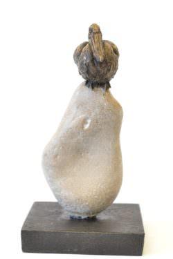 Pelican sculpture front view