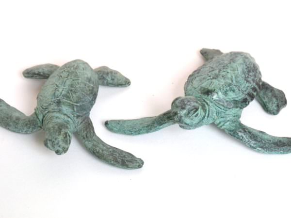 Baby Turtle Sculptures Pair