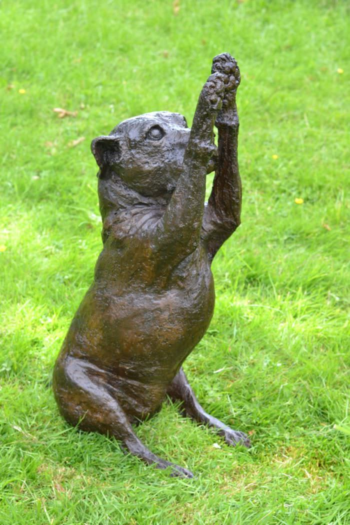 STAFFIE WAVING PAWS SCULPTURE