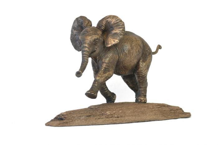 Bronze Baby Elephant Sculpture by animal sculptor Tanya