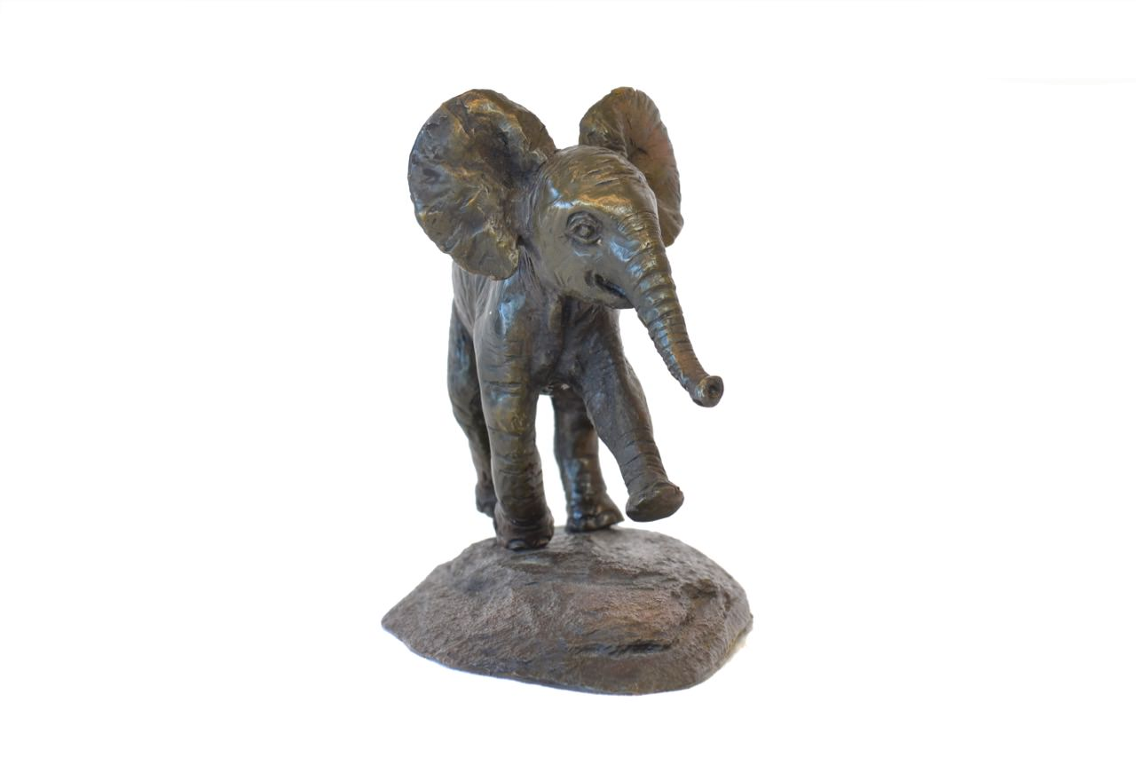 Front view of Baby Elephant sculpture