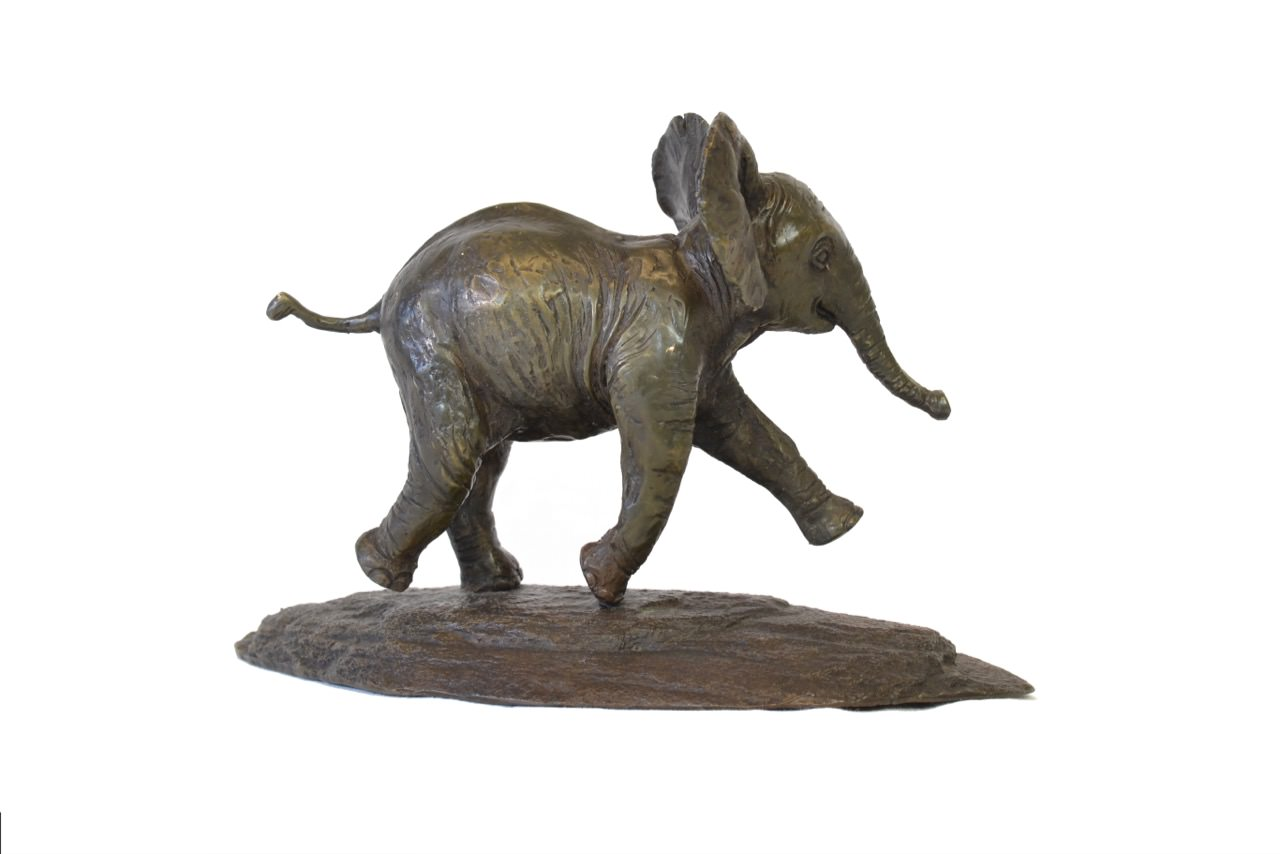 Right side view of Baby Elephant sculpture