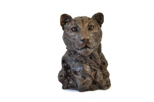 LEOPARD PORTRAIT SCULPTURE