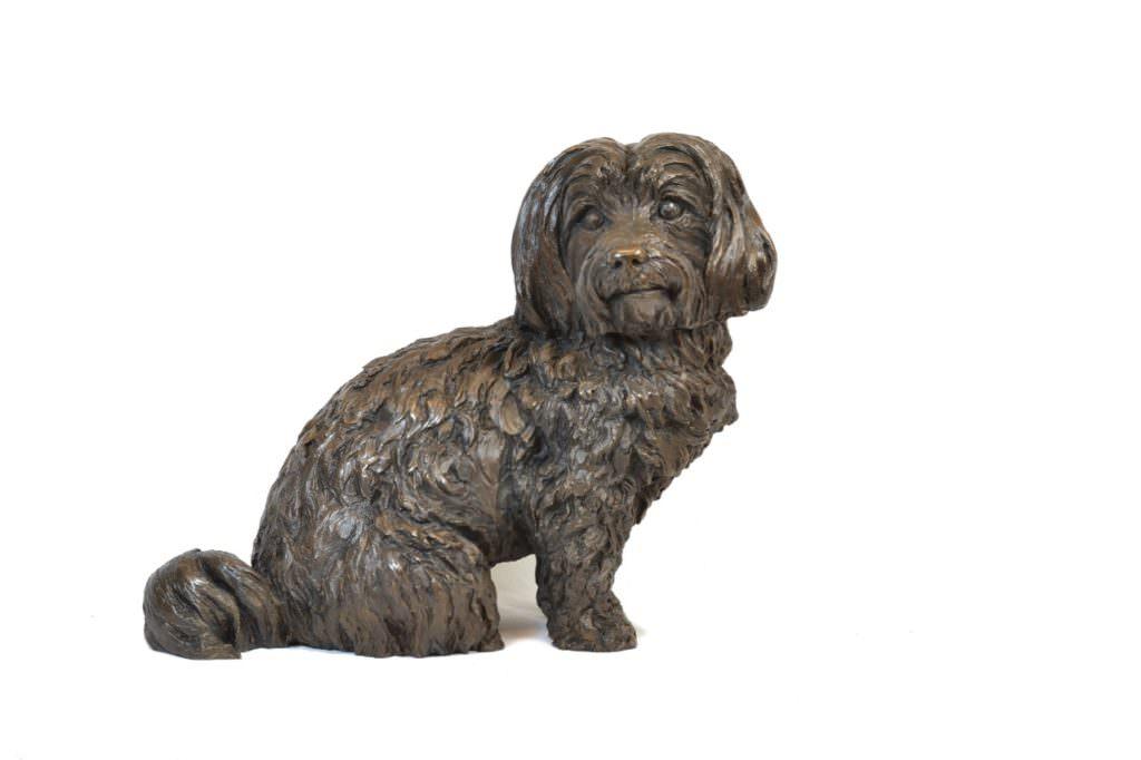 Maltese Terrier sculpture front view