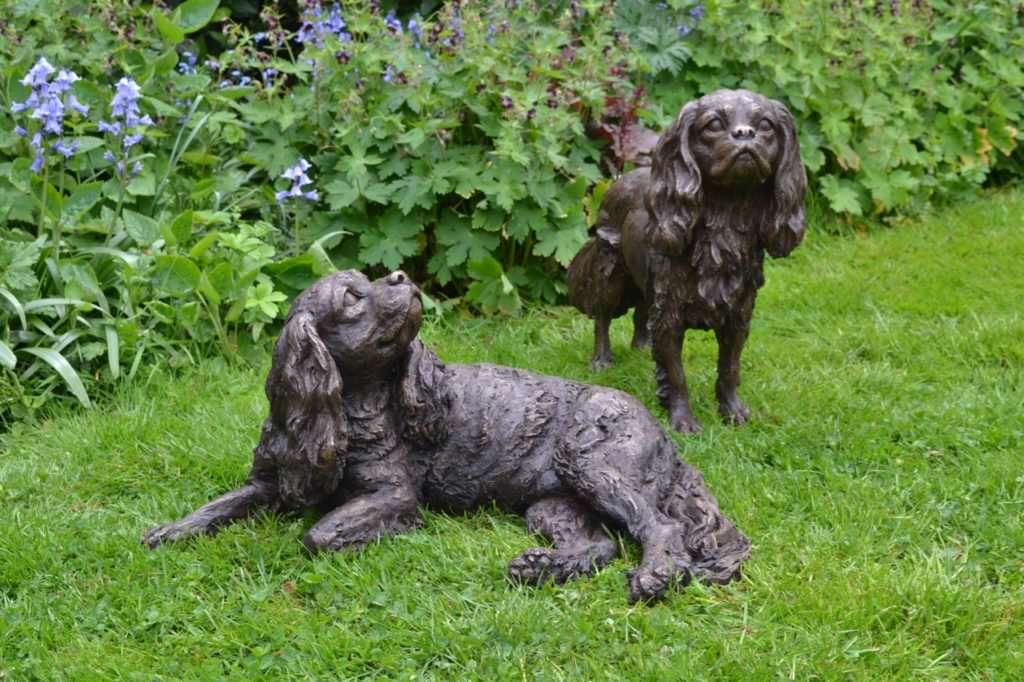 Cavalier King Charles Spaniel sculptures