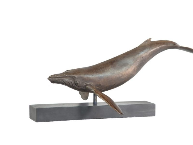 Humpback Whale sculpture - left view