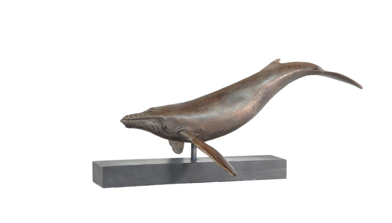 Humpback Whale sculpture - left view
