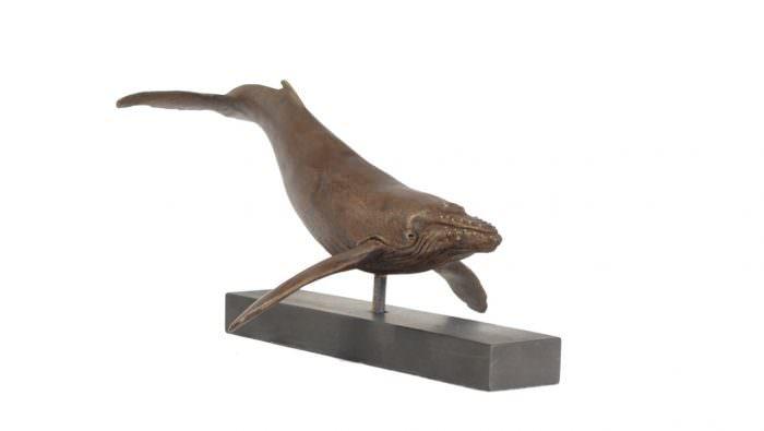 Humpback Whale sculpture - quarter right view