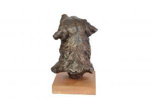 Prince, Labrador Portrait Sculpture - back view