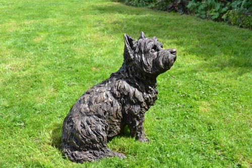 SITTING WEST HIGHLAND TERRIER SCULPTURE