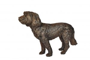 Life-sized Cockerpoo sculpture, right side view by Tanya Russell