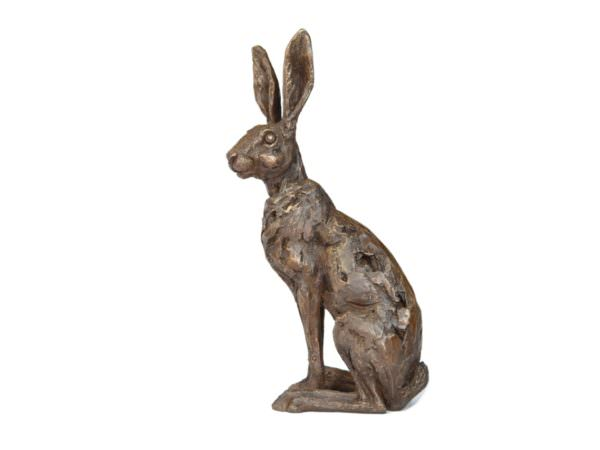 Sitting hare sculpture right view