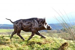 Wildlife Artist of the Year Show wild boar right view