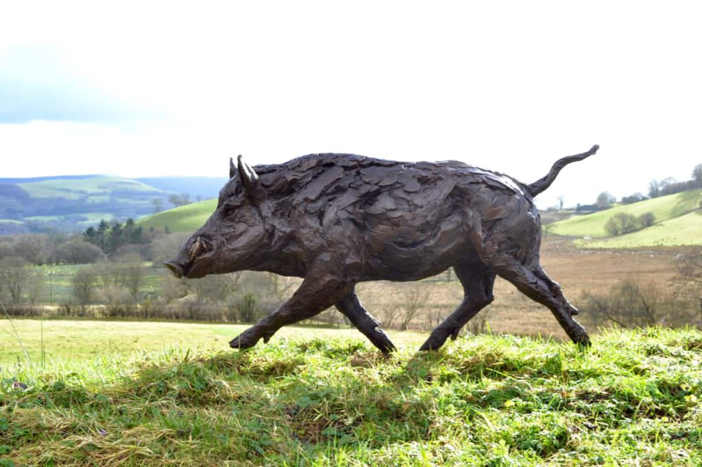 Wild Boar sculpture right side view