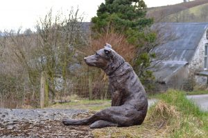 Border Collie Garden sculpture