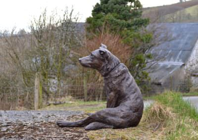 Border Collie cross sitting 6 - Tanya Russell Sculpture
