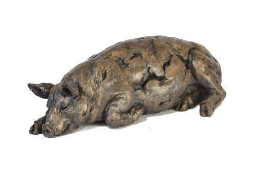 Sleeping Pig sculpture