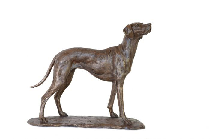Vizsla sculpture right side view