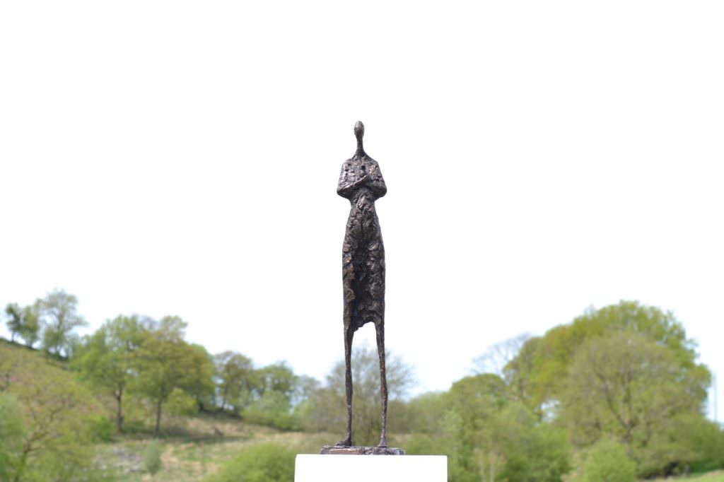 'Tenderness' woman and rabbit sculpture