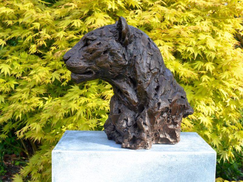 Leopard Portrait Sculpture